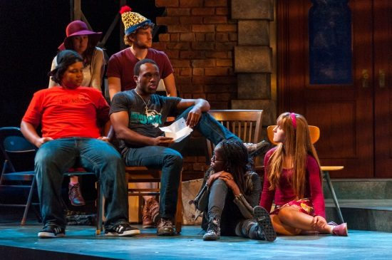 L-R Catherine (Noelle Roy) & Lloyd (Noah Israel), Bottom: Donald (Avery Collins), Clorox (Christopher Lane), Lillie Mae (Chioma Dunkley), and Rhoda (Rebecca Mount). Photo by Dylan Singleton.