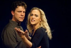 Brit Herring as Macbeth and Rebecca Swislow as Lady Macbeth. Photo provided by Annapolis Shakespeare Company.