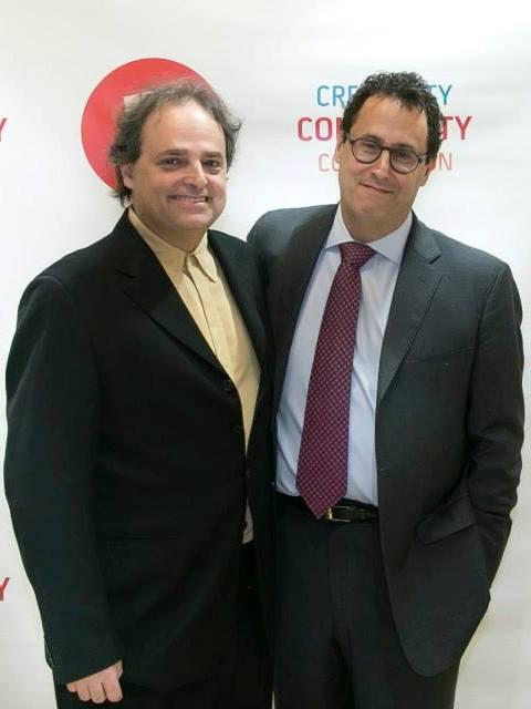 Ari Roth with playwright Tony Kushner.