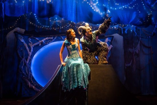 Irinka Kavsadze as Belle and Vato Tsikurishvili as The Beast. Photo by Johnny Shryock.