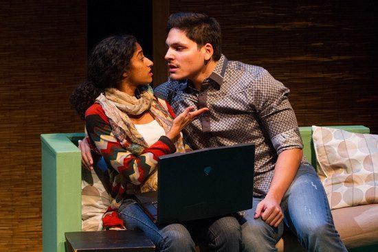 Evie (Anu Yadav) and Raul (AJ Melendez). Photo by Teresa Wood.