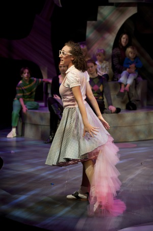 Shayna Blass as Gertrude McFuzz in Seussical at Imagination Stage. Photo by Margot Schulman.