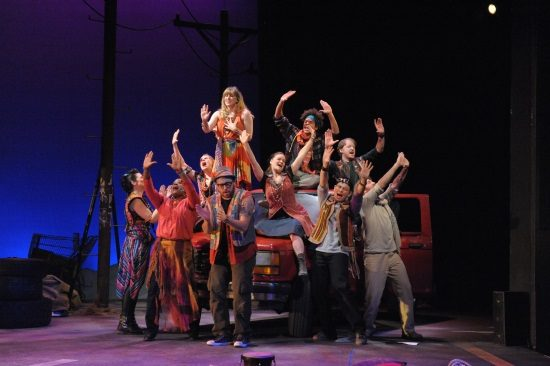 The cast of 'Godspell' at Olney Theatre Center. Photo: Stan Barouh
