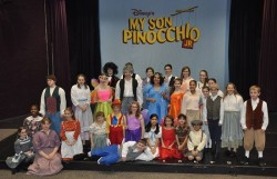 The cast of 'My Son Pinocchio, Jr.' at Children's Playhouse of MD. Photo provided by CPM.