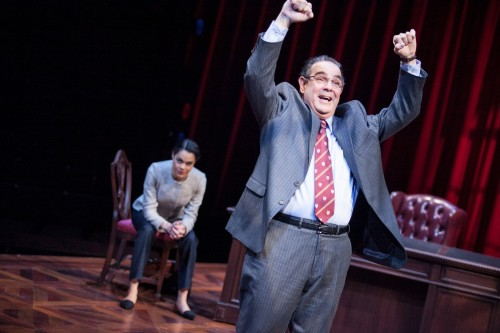 (L to R) Kerry Warren as Cat and Edward Gero as Supreme Court Justice Antonin Scalia in The Originalist at Arena Stage at the Mead Center for American Theater March 6-April 26, 2015. Photo by C. Stanley Photography
