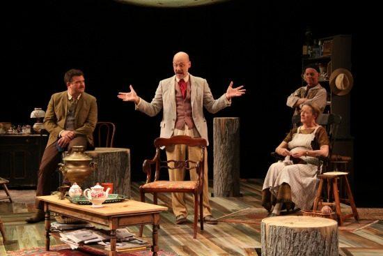 Ryan Rilette, Mitchell Hebert, Mark Jaster and Nancy Robinette in 'Uncle Vanya' at Round House. Photo by Danisha Crosby.