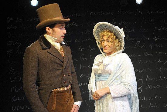 Patrick Truhler as Edward Ferrars and Rebecca Swislow as Elinor Dashwood. Photo by Joshua McKerrow.