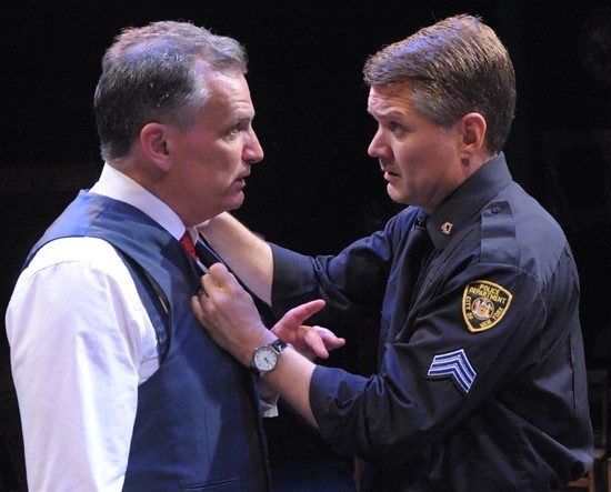 Sean Haberle as Walter Franz and Charlie Kevin as Victor Franz. (Photo: Stan Barouh)