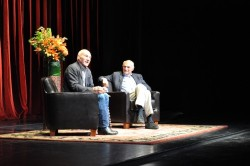 In conversation with Patrick Stewart (L) and Michael Kahn (R). Photo by Nicole Geldart.