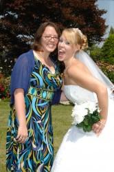 Jennifer at Natasha's wedding in August 2009.