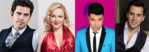 Tony DeSare, Storm Large, Frankie Moreno, and Ryan Silverman. Photos courtesy of the artists.