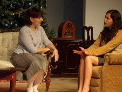 Lisa Jacobs as Boo Levy and Shiri Cooper as Lala Levy. Photo by Jewish Theatre Workshop.