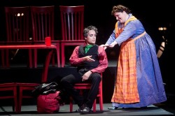 Michael Anthony McGee as Sweeney Todd, Margaret Gawrysiak as Ms Lovett. Photo by Andrew Propp.
