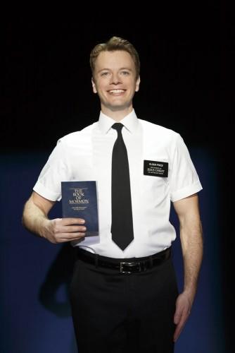 David Larsen as Mormon missionary Kevin Price in Book of Mormon.