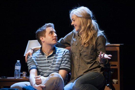 Ben Platt as Evan and Rachel Bay Jones as Heidi in the world-premiere musical Dear Evan Hansen. Photo by Margot Schulman.