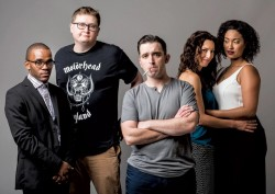 """The cast of The Second City's """"Let Them Eat Chaos"""", now playing at Woolly Mammoth. Photo courtesy of washingtonpost.com"""