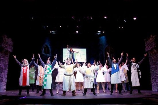 The cast of Spamalot. Photo courtesy of the production.