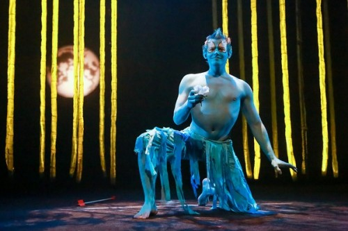 """Alex Mills as Puck in 'A Midsummer Night's Dream"""" at Synetic Theater. Photo courtesy of the Synetic Theater company."""