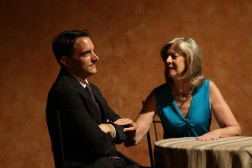 Brian Kraszewski as Michael and Nancy Blum as Arlene in James L. Beller, Jr's Tying the Knot.