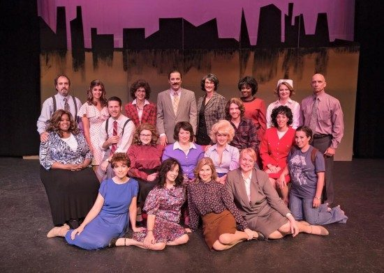 The Cast of '9 to 5' at Silhouette Stages. Photo by Scott Kramer.