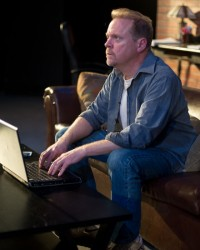 Kevin Dykstra as Tobin Falmouth. Photo by Harvey Levine.
