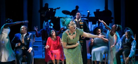 "Natasha Gallop (center) stars in Theater Alliance's ""Black Nativity."" (C. Stanley Photography)"