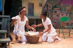 (L-R) Erika Rose and Felicia Curry in the Kennedy Center's OLIVÉRio: A Brazilian Twist. Photo by Teresa Wood.
