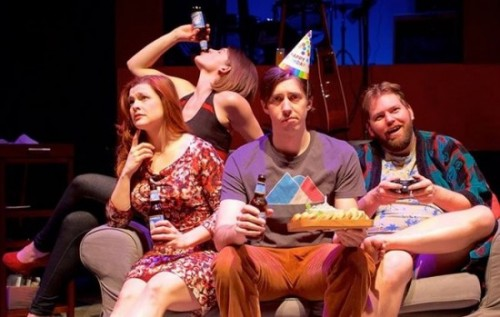(l-r) Suzanne Edgar, Farrell Parker, Vaughn M. Irving and Doug Wilder in You, Or Whatever I Can Get at Flying V (Photo: Ryan Maxwell)