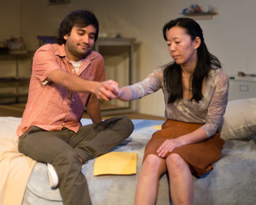 Utkarsh Rajawat (Suresh) and Momo Nakamura (Ilana). Photo by Harvey Levine.