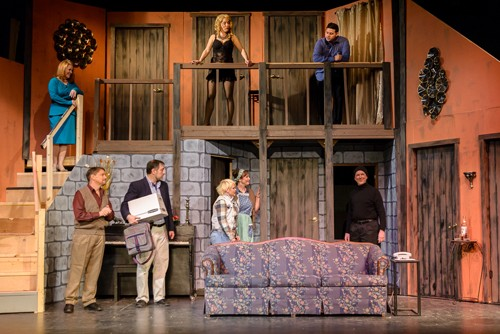 the cast of the play, 'Noises Off'
