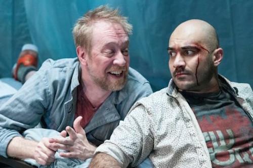 James Konicek (Michal) and Maboud Ebrahimzadeh (Katurian). Photo by Teresa Castracane Photography.
