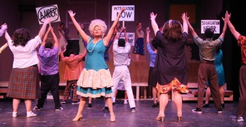 Frankie Brown (as Motormouth Maybelle) and cast. Photo provided by Port Tobacco Players.