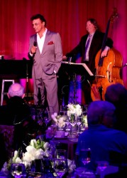 Rick Shaw on stage with Mr. Mathis. Photo courtesy of Rojon Productions.