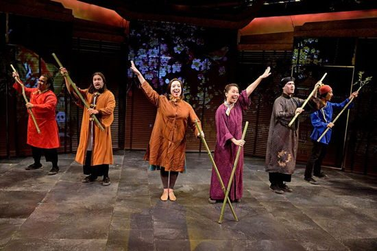 The Cast of 'The Emperor's Nightingale.' Photo by Bruce Douglas.