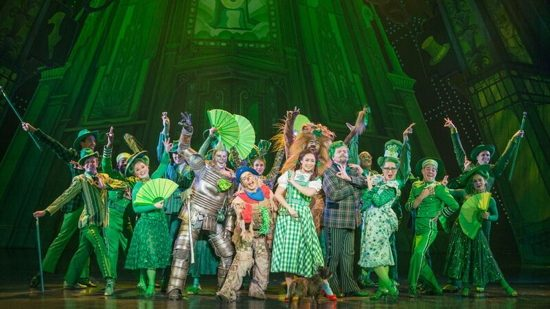From left to right, Jay McGill, Morgan Reynolds, Sarah Lakso, and Aaron Fried appear with the Emerald City company in 'The Wizard of Oz' North American tour, playing at Washington's National Theatre through May 16.