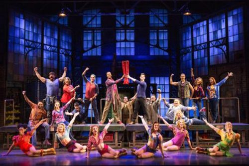 """The touring company of 'Kinky Boots."""" Photo by Matthew Murphy."""