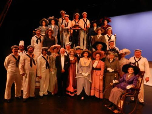 The cast of H.M.S. Piinafore. Photo by Harvey Levine.
