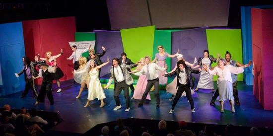 Cast Of The Wedding Singer Photo By Alison Harbaugh Sugar Farm Productions