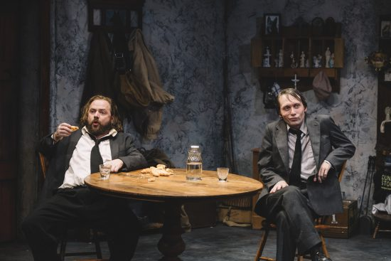Matthew Keenan and Bradley Foster Smith appear as brothers, Coleman and Valene, in 'The Lonesome West' at Keegan Theatre in Dupont Circle.