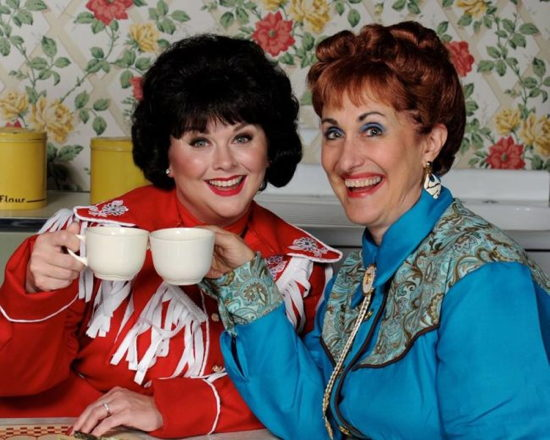 Tiffany Walker Porta Burrows (left) as Patsy Cline and Maribeth Vogel (right) as Louise Seger. Photo provided by