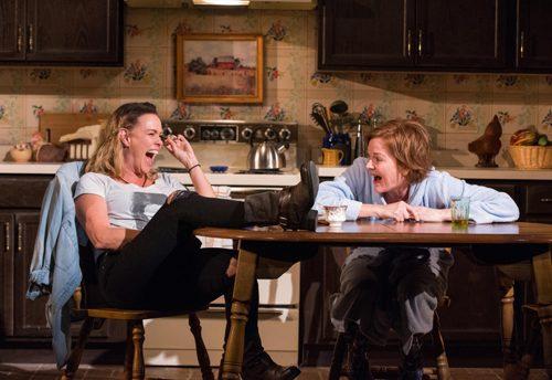 Beth Hylton and Deborah Hazlett in 'The Roommate.' Photo by Stan Barouh.