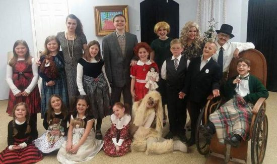 The cast of 'Annie, Jr.' at New Direction Community Theater. Photo courtesy of the production.