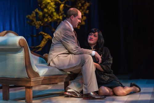 Bruce Randolph Nelson as Rene Gallimard and Vichet Chum as Song Liling. Photography by ClintonBPhotography.
