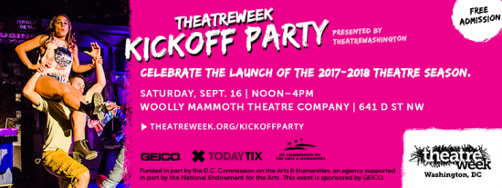 Theatre News: theatreWashington Announces theatreWeek Kickoff Party
