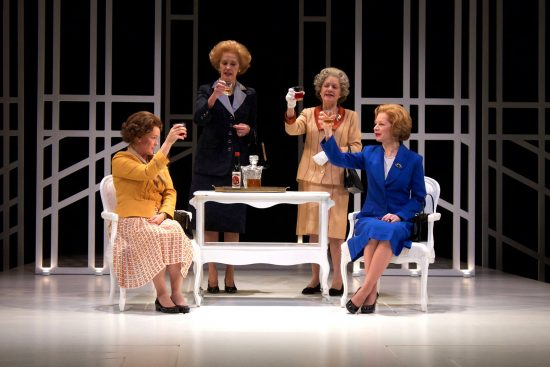 From Left Beth Hylton Liz Kate Fahy T Jennifer Mendenhall Q And Susan Lynskey Mags In Round House Theatre S Current Production Of Handbagged