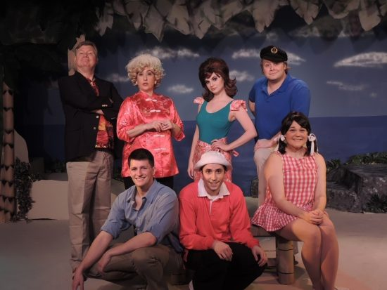 Photo of the actors playing the castaways of Gilligan's Island: The Musical at Way Off Broadway.
