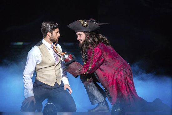 Delaware native Conor McGiffin, right, plays Charles Frohman and Captain James Hook in Finding Neverland at The National Theatre through March 3, 2019.