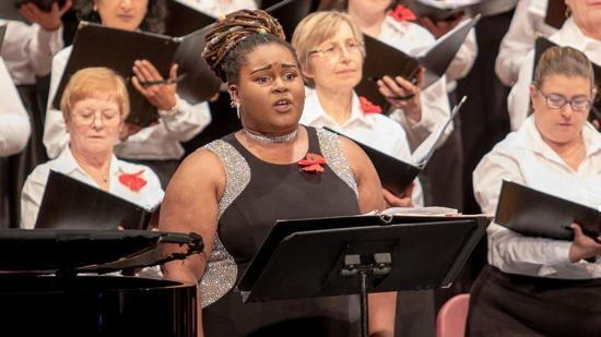"Kayla Currie, a star last year at the Apollo Theater, will sing the Gershwin classic ""Summertime"" with the Columbia Pro Cantare on Saturday. (Courtesy photo / Barry Page)."
