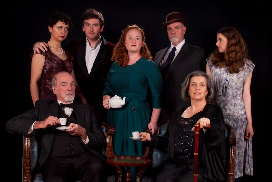 "The cast of ""Towards Zero"" at The Colonial Players of Annapolis"