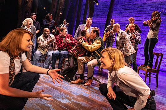 """Cast of the North American tour of """"Come From Away."""" Photo by Matthew Murphy."""